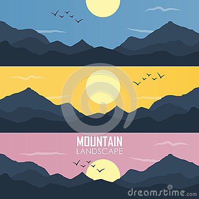 Free Panorama Vector Illustration Of Mountain Ridges Royalty Free Stock Photo - 59539675