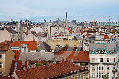 Panorama of the Vienna, Austria.