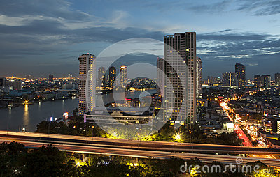 Panorama view of Bangkok city