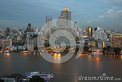 Panorama view of Bangkok city Editorial Stock Image