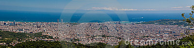 Panorama view of Barcelona