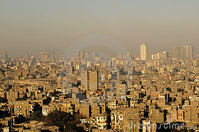 Panorama View of Cairo