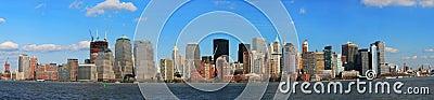 The Panorama View of Lower Manhattan Skyline