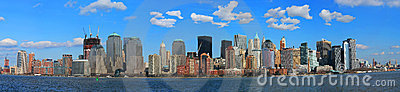 The Panorama View of Lower Manhattan Skyline