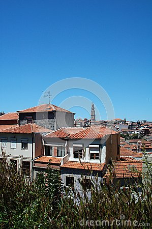 Panorama view from Oporto City
