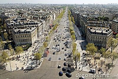 Panorama View of Paris, Champs-Élysées