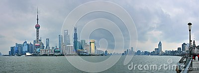 Shanghai Skyline Editorial Photo