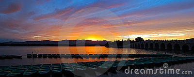 Panorama View of Sunset