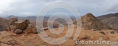 Panorama of volcanic hills, Fuerteventura