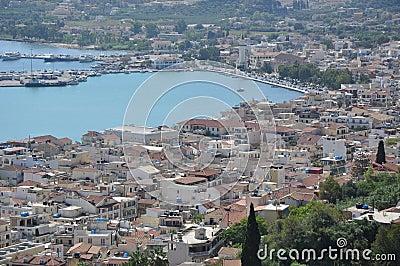 A panorama  Zakynthos, Greece