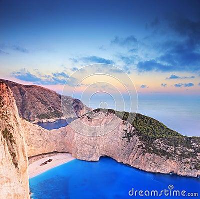 Panorama of Zakynthos island, Greece