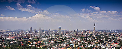 Panoramic Aerial View of Jozi CBD Editorial Photo