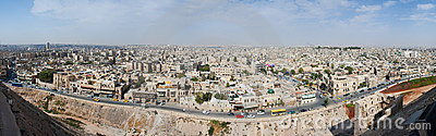 Panoramic of Aleppo