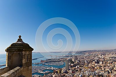 Panoramic of Alicante