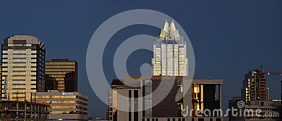 Panoramic Austin during sunset Editorial Stock Photo