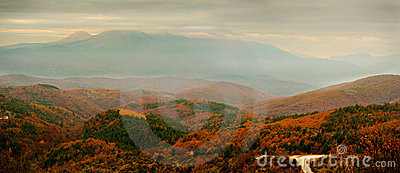 Panoramic autumn  scenery