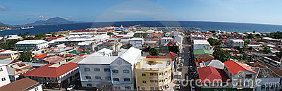 Panoramic Basseterre St Kitts (Nevis)capital city