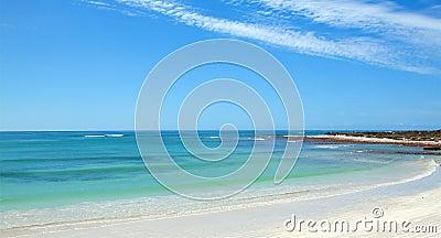 Panoramic of a calm ocean