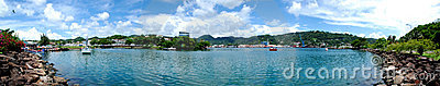 Panoramic Castries, Caribbean St. Lucia Capital