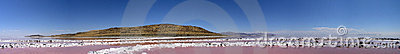 Panoramic of the center of the Spiral Jetty, m Editorial Image
