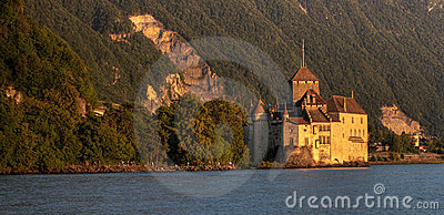 Panoramic with Chateau de Chillon 11, Switzerland