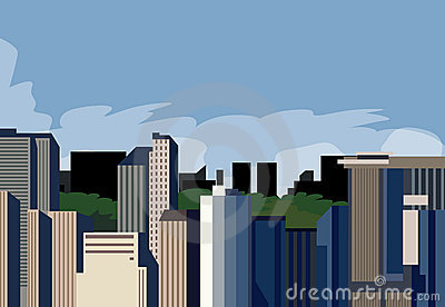 Panoramic a city