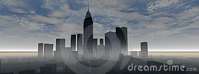 Panoramic city skyline