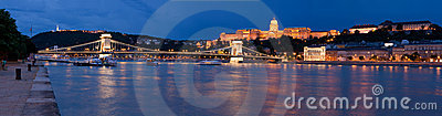 Panoramic cityscape landmark royal Buda castle