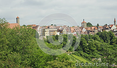 Panoramic cityscape in rothenburg