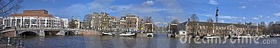 Panoramic cityview Amsterdam