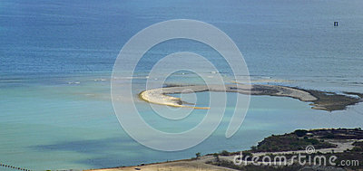 Panoramic coast landscape