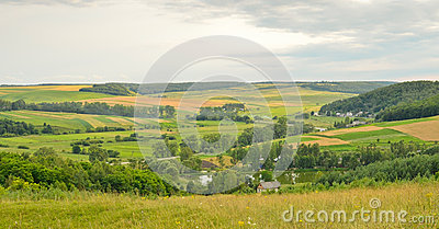 Panoramic country view