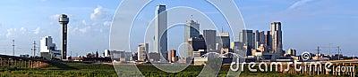 Panoramic Dallas Texas Skyline