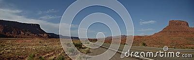 Panoramic desert road