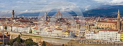 Panoramic Florence From Piazzale Michelangelo