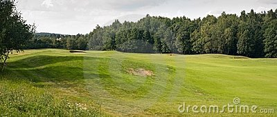 Panoramic golf field