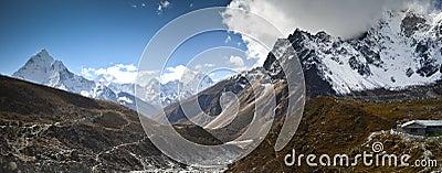 Panoramic Himalaya landscape