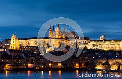 Panoramic image of Prague, capital city of Czech Republi