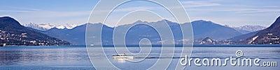 Panoramic Lake Maggiore landscape