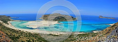 Panoramic landscape of Balos bay - Crete, Greece