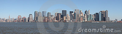 Panoramic landscape of Manhattan Skyline