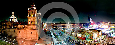 Panoramic of Mexico city Editorial Stock Photo