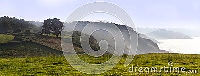 Panoramic Mountain Landscape.