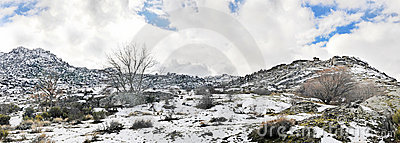 Panoramic mountain snow