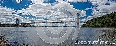 Panoramic photo of George Washington Bridge over H