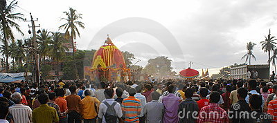 Panoramic Rath Yatra or Juggernaut (Car Festival) Editorial Image