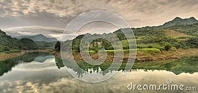 Panoramic river scenery
