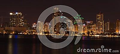 Panoramic of San Diego (night)
