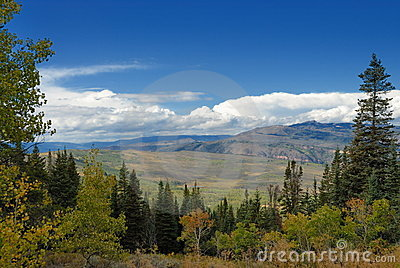 Panoramic scenery in Colorado