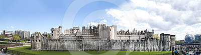 Panoramic shot of the Tower of London Editorial Photography